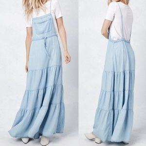 NWT LOVE STITCH Tencel Apron Maxi Dress Sz M
